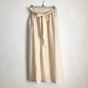 Jones New York ivory silk maxi skirt 16 adjustable